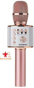 BONAOK Wireless Bluetooth Karaoke Microphone best kids microphone