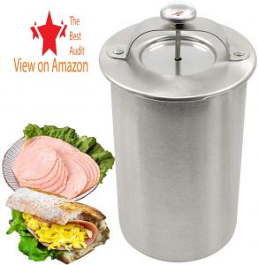 Ham maker stainless steel cooker with thermometer