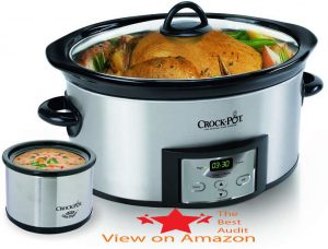 Crock stainless steel pressure cooker with thermometer