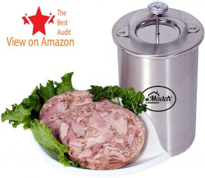Ham stainless steel pressure cooker with thermometer