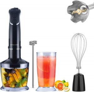 Speed Stick Blender with Sturdy Titanium Plated Stainless Steel Blades,